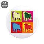 Pug Silhouette Pop Art 3.5