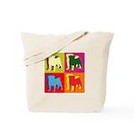 Pug Silhouette Pop Art Tote Bag