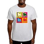 Pug Silhouette Pop Art Light T-Shirt
