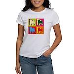 Pug Silhouette Pop Art Women's T-Shirt