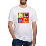 Pug Silhouette Pop Art Fitted T-Shirt