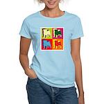Pug Silhouette Pop Art Women's Light T-Shirt
