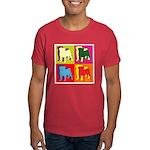 Pug Silhouette Pop Art Dark T-Shirt