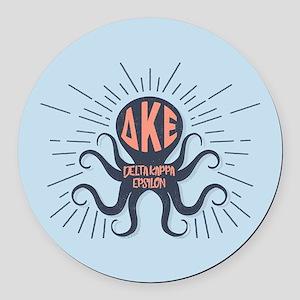 Delta Kappa Epsilon Octopus Round Car Magnet