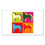 Saint Bernard Silhouette Pop Art Sticker (Rectangl