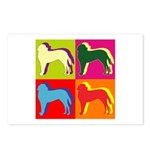 Saint Bernard Silhouette Pop Art Postcards (Packag
