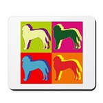 Saint Bernard Silhouette Pop Art Mousepad