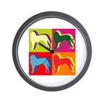 Saint Bernard Silhouette Pop Art Wall Clock