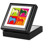 Saint Bernard Silhouette Pop Art Keepsake Box