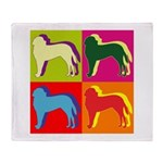 Saint Bernard Silhouette Pop Art Throw Blanket