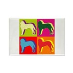 Saint Bernard Silhouette Pop Art Rectangle Magnet