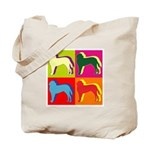 Saint Bernard Silhouette Pop Art Tote Bag