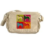 Saint Bernard Silhouette Pop Art Messenger Bag