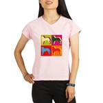 Saint Bernard Silhouette Pop Art Performance Dry T