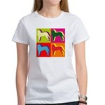 Saint Bernard Silhouette Pop Art Women's T-Shirt