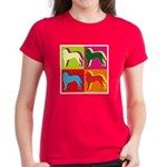Saint Bernard Silhouette Pop Art Women's Dark T-Sh