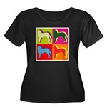 Saint Bernard Silhouette Pop Art Women's Plus Size