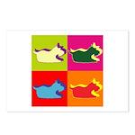 Schnauzer Silhouette Pop Art Postcards (Package of