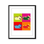 Schnauzer Silhouette Pop Art Framed Panel Print