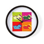 Schnauzer Silhouette Pop Art Wall Clock