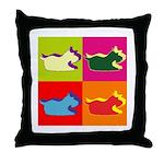 Schnauzer Silhouette Pop Art Throw Pillow