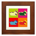 Schnauzer Silhouette Pop Art Framed Tile