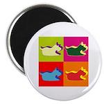 Schnauzer Silhouette Pop Art Magnet