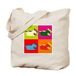 Schnauzer Silhouette Pop Art Tote Bag