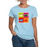 Schnauzer Silhouette Pop Art Women's Light T-Shirt