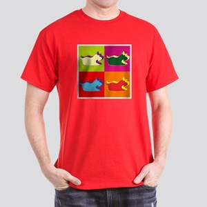 Schnauzer Silhouette Pop Art Dark T-Shirt