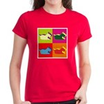 Schnauzer Silhouette Pop Art Women's Dark T-Shirt