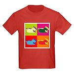 Schnauzer Silhouette Pop Art Kids Dark T-Shirt