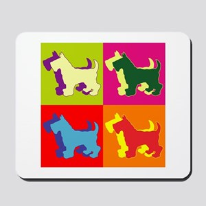 Scottish Terrier Silhouette Pop Art Mousepad