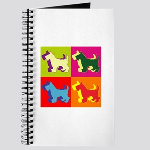 Scottish Terrier Silhouette Pop Art Journal