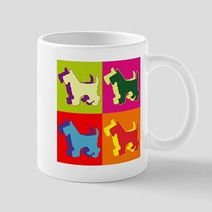Scottish Terrier Silhouette Pop Art Mug