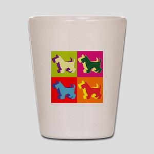 Scottish Terrier Silhouette Pop Art Shot Glass