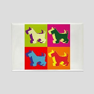 Scottish Terrier Silhouette Pop Art Rectangle Magn