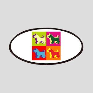 Scottish Terrier Silhouette Pop Art Patches