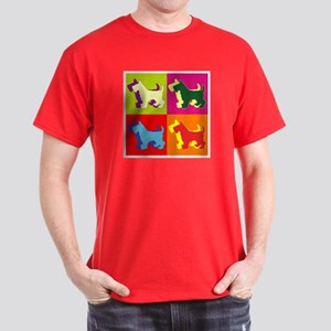 Scottish Terrier Silhouette Pop Art Dark T-Shirt