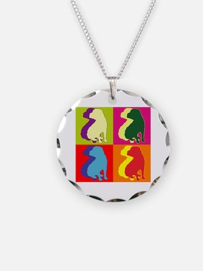 Shar Pei Silhouette Pop Art Necklace