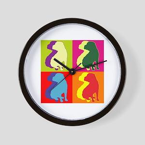 Shar Pei Silhouette Pop Art Wall Clock