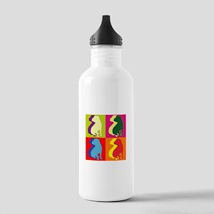 Shar Pei Silhouette Pop Art Stainless Water Bottle