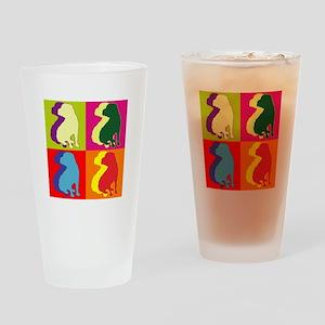 Shar Pei Silhouette Pop Art Drinking Glass