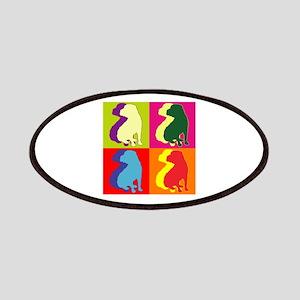 Shar Pei Silhouette Pop Art Patches