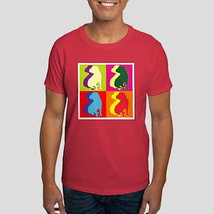 Shar Pei Silhouette Pop Art Dark T-Shirt