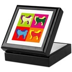 Siberian Husky Silhouette Pop Art Keepsake Box