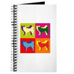 Siberian Husky Silhouette Pop Art Journal