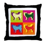 Siberian Husky Silhouette Pop Art Throw Pillow