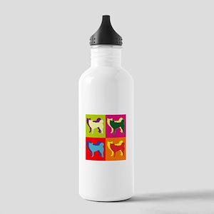 Siberian Husky Silhouette Pop Art Stainless Water
