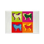 Siberian Husky Silhouette Pop Art Rectangle Magnet